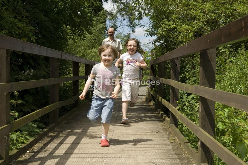 RSPB Rye Meads Nature Reserve, Hertfordshire. Visitors to the reserve. 22nd ...