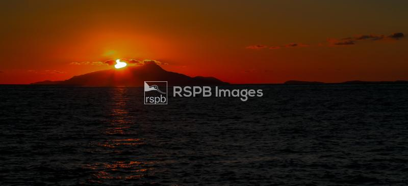 Sunset view from the Amalfi coast, Italy, Europe, August 2014 ...