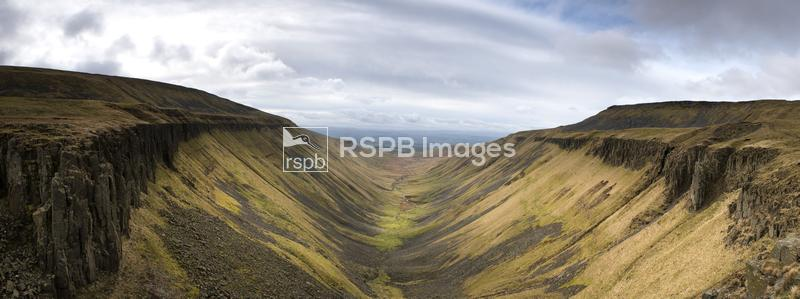 A view down High Cup Valley, Appleby in Westmorland, Cumbria, England, Marc ...