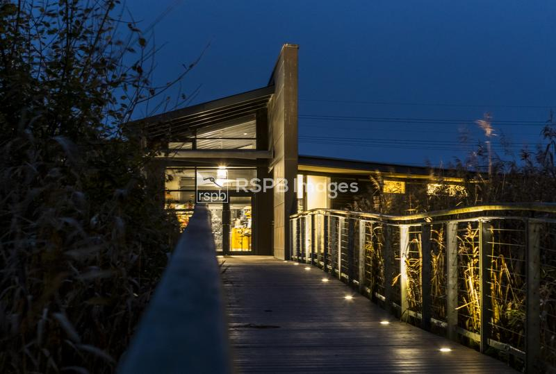 RSPB Newport Wetlands Nature Reserve Visitor Center, Gwent Levels, Wales, N ...