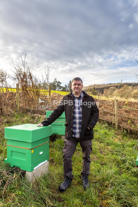 Portrait of Kerry Wynne, a beekeeper who uses Abelo polystyrene beehives wh ...